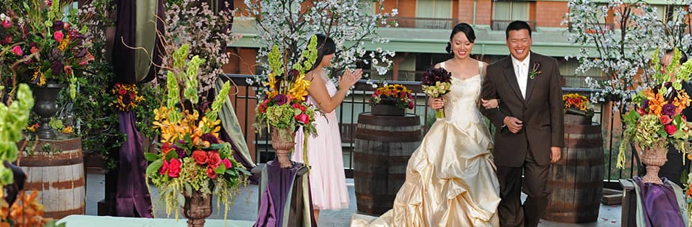 Parkview Terrace At Disney S Grand Californian Hotel Spa California Weddings Wishes Collection Fairy Tale