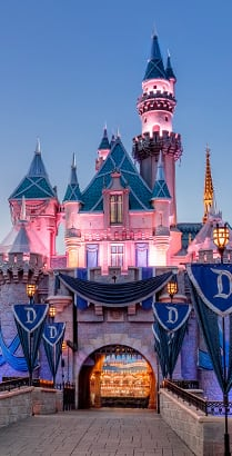 Sleeping Beauty Castle at Disneyland Park in California