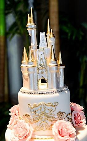 Wedding Cake Wednesday Pink Gold Soiree Disney Weddings
