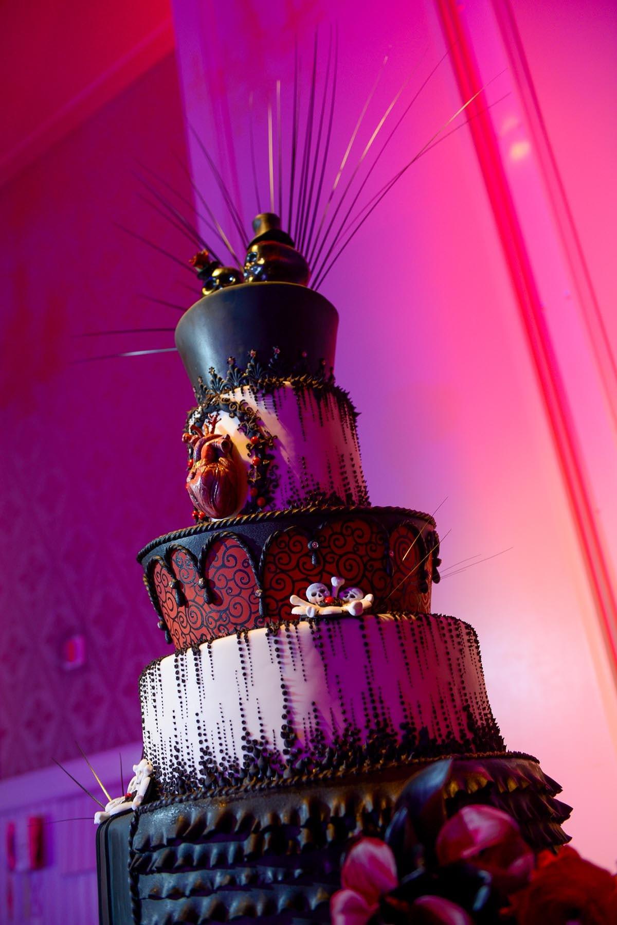 Wedding Cake Wednesday: Gothic Cake | Disney Weddings| Disney Weddings