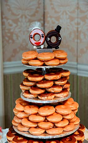 Wedding cake wednesday donut tower disney weddings disney weddings the matching personalized donut topper of course korri categories wedding cake wednesday junglespirit Image collections