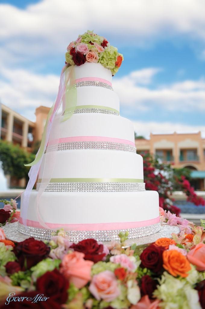 Wedding Cake Wednesday: Pink Bling   Disney Weddings