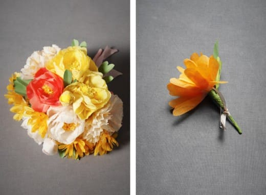 Trend watch tissue paper flowers disney weddings prefer to make your own crepe paper flowers like the ones pictured below check out martha stewart weddings for a diy guide mightylinksfo
