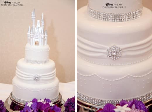 Wedding Cake Wednesday: White & Bling | Disney Weddings| Disney Weddings