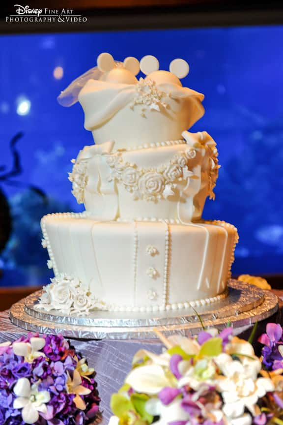 Wedding Cake Wednesday All White Mickey Ears