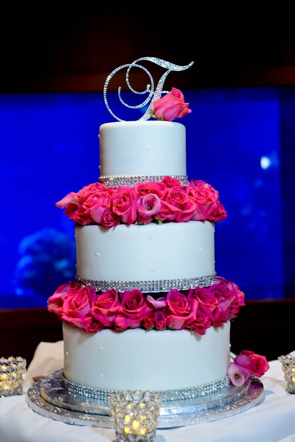 Wedding Cake Wednesday: Bling Monogram | Disney Weddings