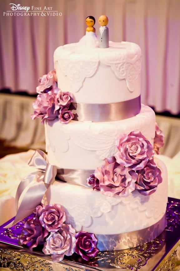 Wedding Cake Wednesday: Lavender Roses | Disney Weddings