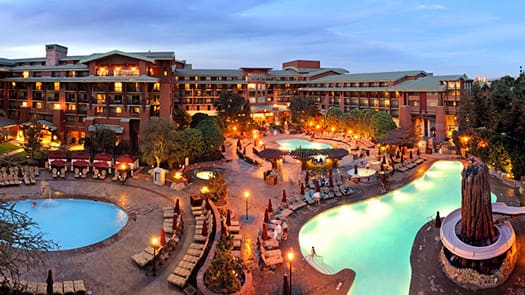 The Pool Area At Disney S Grand Californian Hotel Spa