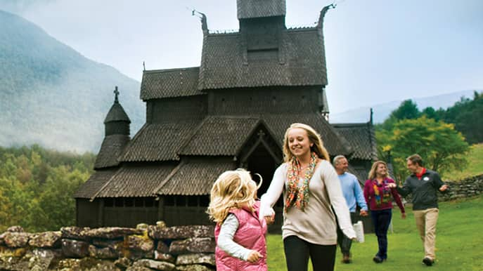 A family enjoys their Adventures by Disney vacation in Norway