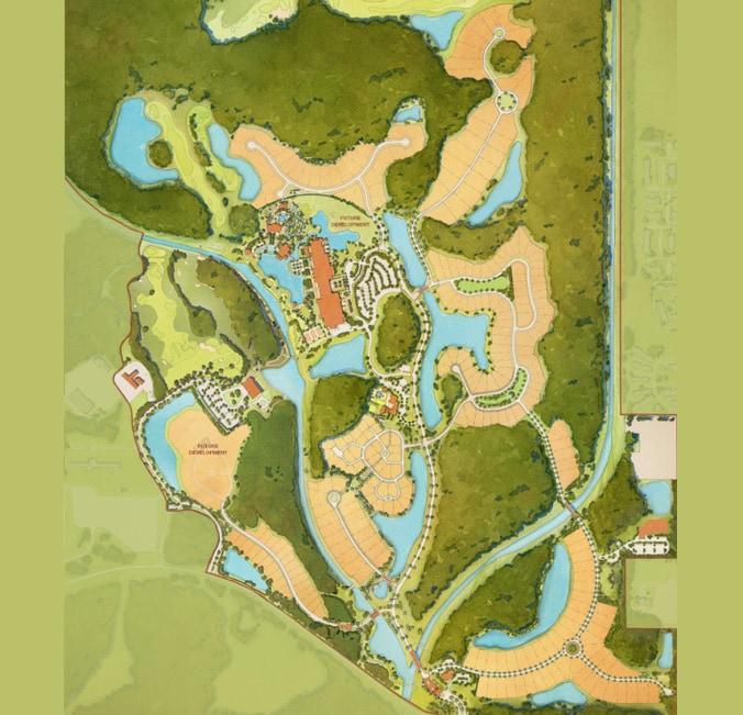 A map of Golden Oak featuring 5 neighborhoods